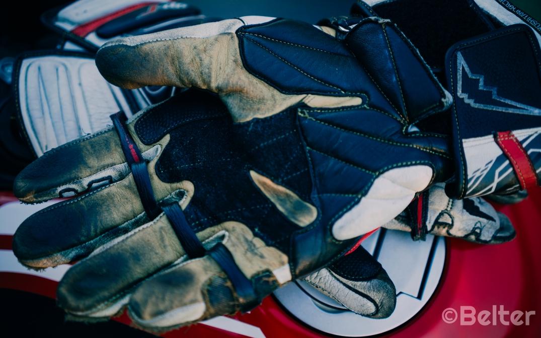 Kushitani GPR-6 Racing Glove Palm.