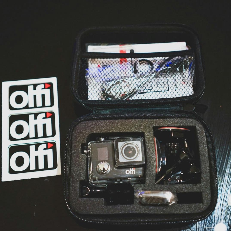 Olfi in it's lovely case.